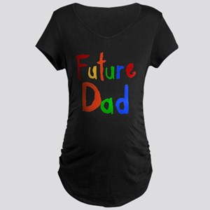 Primary Colors Future Dad Maternity Dark T-Shirt