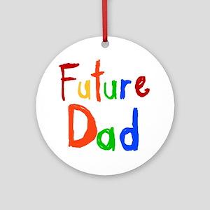 Primary Colors Future Dad Round Ornament