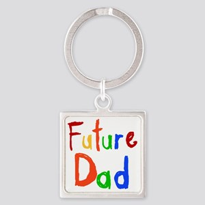 Primary Colors Future Dad Square Keychain