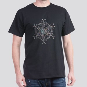 Iridescent Snowflake Dark T-Shirt