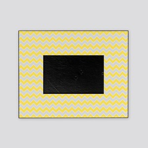 Chevron Grey And Yellow Picture Frames Cafepress