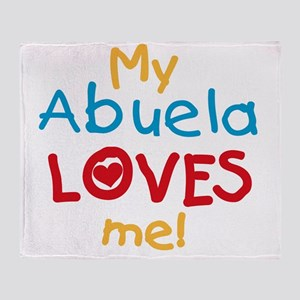 My Abuela Loves Me Throw Blanket