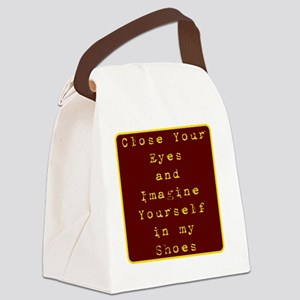 Close Eyes Canvas Lunch Bag