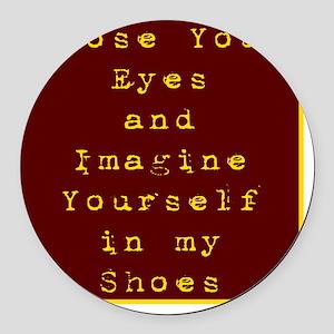 Close Eyes Round Car Magnet