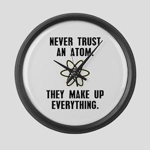 Never Trust an Atom Large Wall Clock