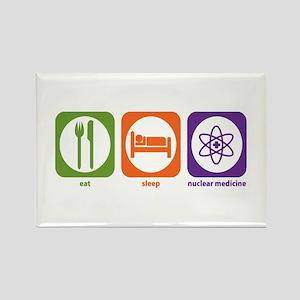 Eat Sleep Nuclear Medicine Rectangle Magnet