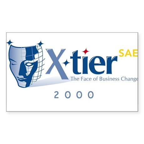 X-tier's Face of Change Rectangle Sticker