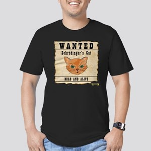WANTED: Schrodingers C Men's Fitted T-Shirt (dark)