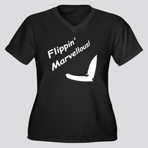 Flippin' Mar Women's Plus Size Dark V-Neck T-Shirt