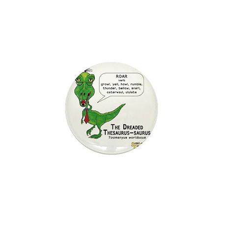 The Dreaded Thesaurus-saurus Mini Button
