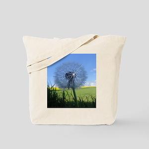 Shiny dandelion Tote Bag