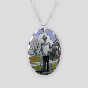 Jackies Front Cover Necklace Oval Charm