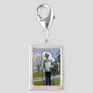 Jackies Front Cover Silver Portrait Charm