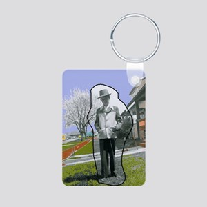 Jackies Front Cover Aluminum Photo Keychain