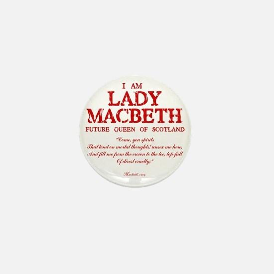 Lady Macbeth (red) Mini Button