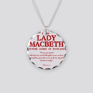 Lady Macbeth (red) Necklace Circle Charm