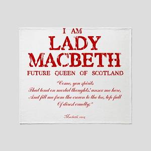 Lady Macbeth (red) Throw Blanket