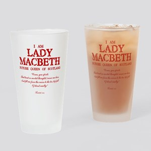 Lady Macbeth (red) Drinking Glass