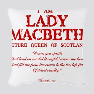 Lady Macbeth (red) Woven Throw Pillow