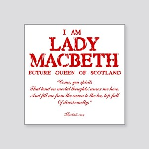 "Lady Macbeth (red) Square Sticker 3"" x 3"""