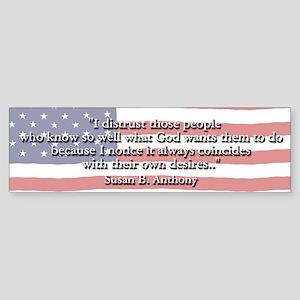 Susan B. Anthony Bumper Sticker