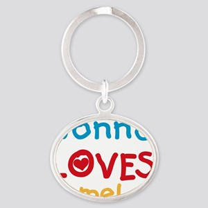 Nonna Loves Me Oval Keychain