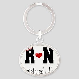 Registered Nurse (RN) Oval Keychain