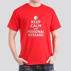 Personalized Keep Calm Volleyball Dark T-Shirt
