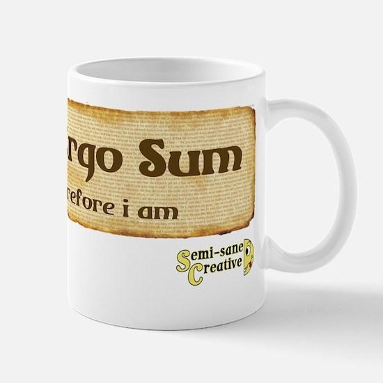 Scribo Ergo Sum Mug