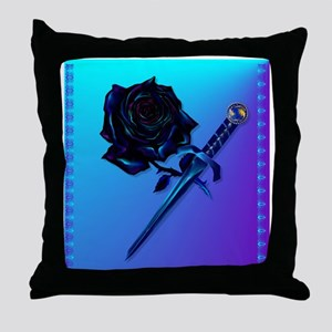 Black Rose and Dagger-2 Throw Pillow