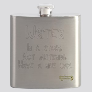 Writer: In a story. Not listening. Flask