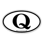 Q is for Queen Oval Bumper Sticker