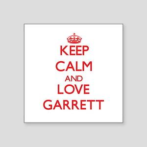 Keep calm and love Garrett Sticker