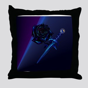 Mens All Over Front Black Rose and Da Throw Pillow
