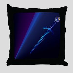 Mens All Over Back Black Dagger Throw Pillow