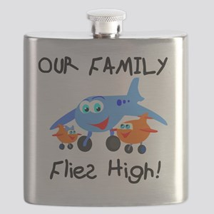 Our Family Flies High Flask