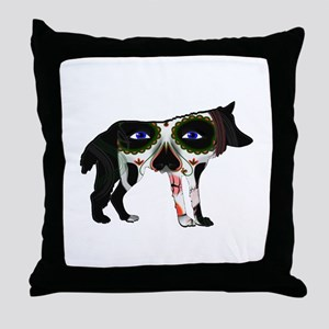 SUGAR WOLF Throw Pillow