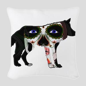 SUGAR WOLF Woven Throw Pillow