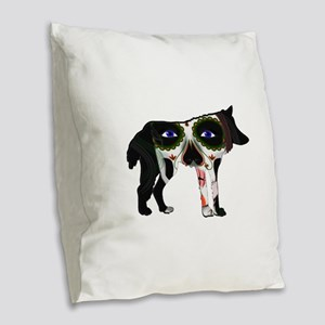 SUGAR WOLF Burlap Throw Pillow