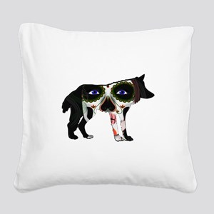 SUGAR WOLF Square Canvas Pillow