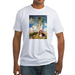 Umbrella & Basset Fitted T-Shirt