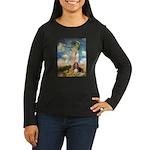 Umbrella & Basset Women's Long Sleeve Dark T-Shirt