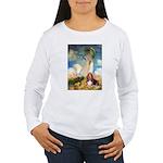 Umbrella & Basset Women's Long Sleeve T-Shirt