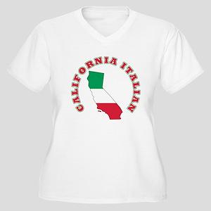 California Italian Women's Plus Size V-Neck T-Shir