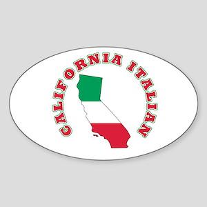 California Italian Oval Sticker
