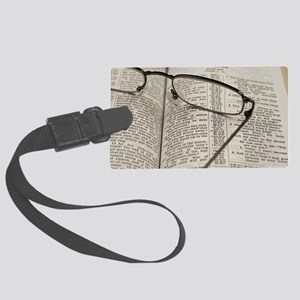 Reading The Psalms Large Luggage Tag