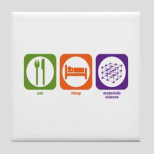Eat Sleep Materials Science Tile Coaster