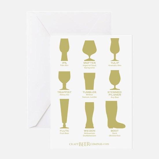 Proper Glassware Greeting Card