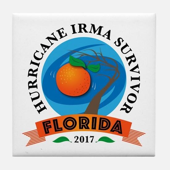 Florida Irma Survivor Tile Coaster