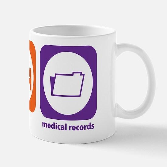 Eat Sleep Medical Records Mug
